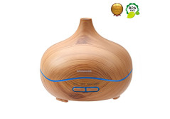 Buy this discounted product Ominihome Essential Oil Diffuser 300ml Cool Mist Humidifier Ultrasonic Aroma Diffuser, Waterless Auto Off, Wood Grain, Brightness Adujstable, Thanksgiving (Wood Grain) on Amazon