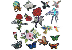Buy this discounted product DIY Iron on Patches-OKEER 17Pcs Large Size Flower Birds Butterfly Inserts Embroidery Iron Sewing On Applique Patches for Jackets Backpacks Jeans Clothing (Patch - Flower) on Amazon