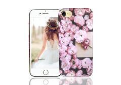 Buy this discounted product iPhone 8 Case, iPhone 7 Case, Vivafree Girl [Premium Floral Series] Flower Design with TPU Bumper - Slim Fit Silky Soft Flexible Silicone Cover Cellphone Case - Cherry Blossom on Amazon