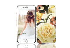 Buy this discounted product iPhone 8 Case, iPhone 7 Case, Vivafree Girl [Premium Floral Series] Flower Design with TPU Bumper - Slim Fit Silky Soft Flexible Silicone Cover Cellphone Case - White Rose on Amazon