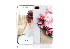 Buy this discounted product iPhone 8 Plus Case, iPhone 7 Plus Case, Vivafree Girl [Premium Floral Series] Flower Design with TPU Bumper - Soft Slim Silky Flexible Silicone Cover Cellphone Case - Cherry Blossom on Amazon