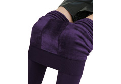 Buy this discounted product Mode Nuage Women's Seamless Fleece Lined Leggings - Regular Size - Winter Warm on Amazon