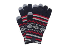 Buy this discounted product Knit Gloves Warm Touch Screen Unisex Outdoor Full-finger Mittens for Women Girls on Amazon
