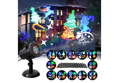 Buy this discounted product GAXmi Christmas Projector Lights 12 Moving Changeable Patterns LED Spotlight Waterproof Indoor Outdoor Landscape Lighting for Halloween Wedding Birthday Valentines Party National Day on Amazon