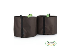 Buy this discounted product Amor En Bolsa 5 Gallon Garden Planters - Set Of 2 - Brown Color Polyester Plant Pots w/ Handles - Ideal for Indoor & Outdoor Use - Fabric Flower Pots perfect to Decorate your House, Patio or Balcony on Amazon