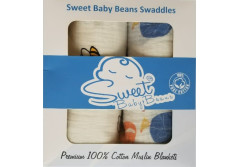 Buy this discounted product 100% Cotton Muslin Baby Swaddles (Bees/ Fox) on Amazon