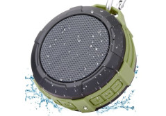 Buy this discounted product Wireless Bluetooth Speaker Waterproof Shower Speaker,Xergur Super Portable Speaker with Micro SD Card Slot, Built-In Mic,Enhanced Bass,Durable Design for iPhone, iPad, Samsung, Nexus (Green) on Amazon