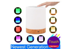 Buy this discounted product LK&smart Night Light, Smart Touch Sensor Bedside Lamp, (Dimmable 3 Level Warm White Light & Six Color Changing RGB) (new design) on Amazon