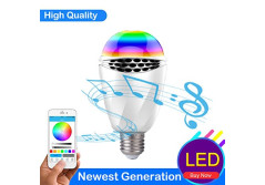 Buy this discounted product LK&smart Bluetooth Smart LED Speaker Bulb, Smartphone Controlled RGB Bulb, Dimmable Multi-Color Changing Lights on Amazon