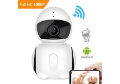 Buy this discounted product WiFI Security Camera, IKARE 1080P Indoor Security Camera for Baby, Surveillance Remote Monitor with Night Vision, Motion Detection, Pet Cam with iOS/ Android App, 2-Way Audio, Support Micro SD Card on Amazon