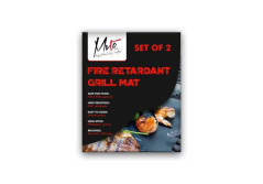 MVTC BBQ Grill Mat PTFE Plus Glass Fiber Mats Non-Stick Up To One Hundred Times 100X Usage FBA and LFGB Approved Great Baking Barbecue Mates for Electric and Non Electric Indoor and Outdoor Grilling.