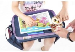 SUNDIAL Kids Travel Tray Extra Sturdy Easy Wipe Surface...