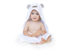 Buy this discounted product Luxury Baby Hooded Towel Thick and Soft, Extra Large 35... on Amazon