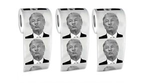 Buy this discounted product Donald Trump Toilet Paper - Dump with Trump!- Fairly Odd Novelties Donald Trump Political Humor Funny Toilet Paper--240 Sheets Per Roll (2) on Amazon