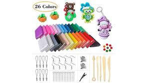 Buy this discounted product LOYOU Polymer Clay, 26 Colours Oven Bake Clay with Bright Color Soft DIY Clay Set with 5 Tools and 40 Accessories, Moulding Clay Toy Best Gift for Kids on Amazon