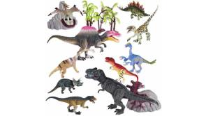Buy this discounted product Dinosaur Toys Set for Toddlers Kids - Realistic Dinosaur Figures with Movable Jaws Including T-rex, Triceratops, Velociraptor and More Best Toy Gift Party Favors for Ages 3+ Year Old Boys Girls on Amazon