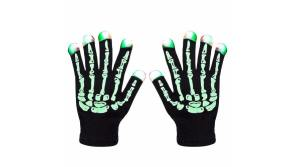 Buy this discounted product LED Skeleton Gloves ZOETOUCH Finger Lights 6 Modes Rave Gloves Party LED Lighted Gloves For Halloween Costume Christmas Dance Dubstep Party Birthday on Amazon