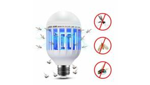 Buy this discounted product Famlighting Bug Zapper Light Bulb, 15W 2 in 1 Electronic Insect Killer, Mosquito Zapper Lamp, E26/E27 Fly Killer Light Bulb with built in UV Insect Catcher Trap for Indoor and Outdoor (White) on Amazon