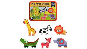 Buy this discounted product KUNEN Puzzle Games 6-In-A-Box! My First Animal Puzzle Set Wooden Jigsaw Puzzles For Boy & Girl Toddlers on Amazon