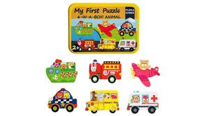 Buy this discounted product MengTing Puzzle Games 6-In-A-Box!My First Travel Vehicles Puzzle Set Wooden Jigsaw Puzzles for Toddlers Gift on Amazon