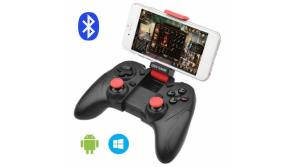 Buy this discounted product allcaca Bluetooth Game Controller Wireless Gamepad Rechargeable Phone Controller with Vibrating Function, Compatible with Android Phone, Tablet, TV, TV Box, VR (Not for iOS) on Amazon
