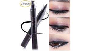 Buy this discounted product Liquid Eyeliner Stamp, AnewGeek Long-lasting Waterproof Liquid Eyeliner Black Double-ended Makeup Eye Liner Pen Pencil Cosmetic Tool for... on Amazon