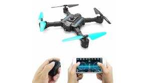 Buy this discounted product Upgraded AG-06 Mini RC Drone 2.4Ghz 6-Axis Gyro,with 120° Wide-Angle 720P HD Camera Live Portable&Foldable-Altitude Hold, One Key Take Off/Landing,3D Flip,APP Control,Gravity Sensor for Training on Amazon
