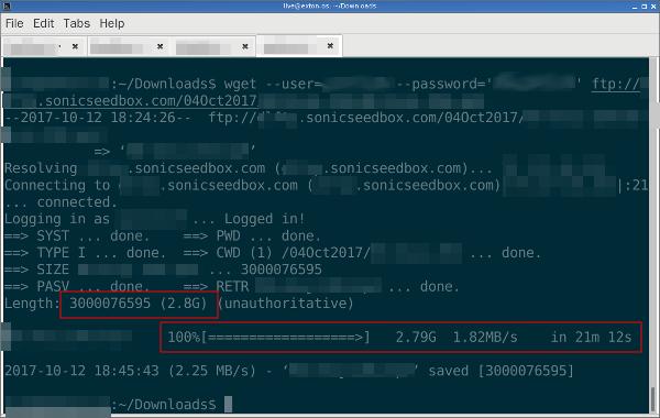Linux WGet 下載 FTP 完檔網址
