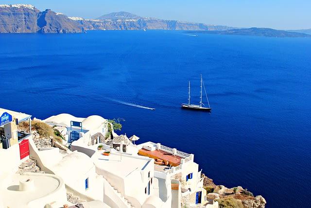 Greece Cyclades Santorini Oia Sea