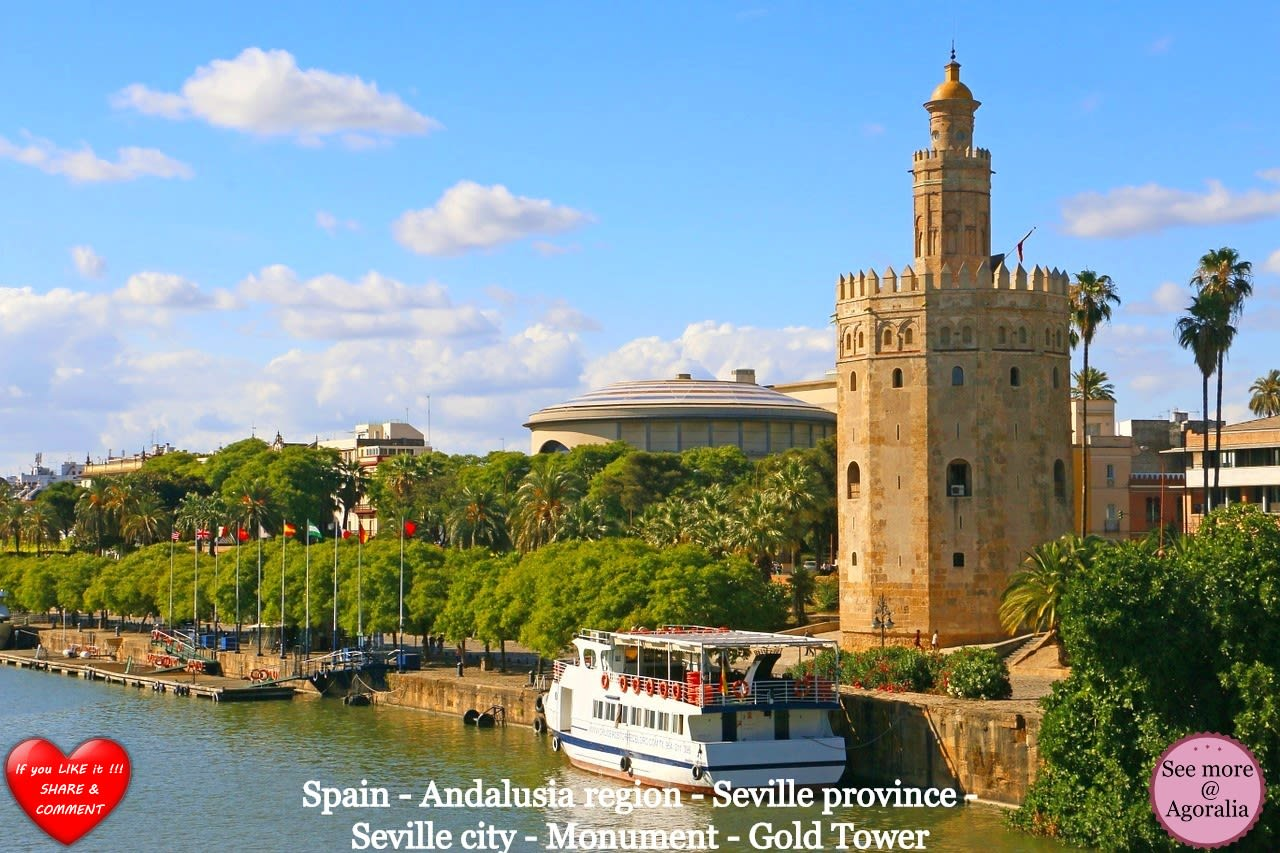 Spain - Andalusia region - Seville province - Seville city - Monument - Gold Tower