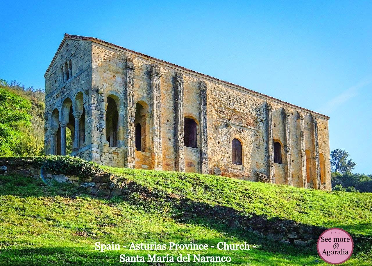 Spain-Asturias-Province-Church-Santa-Maria-del-Naranco