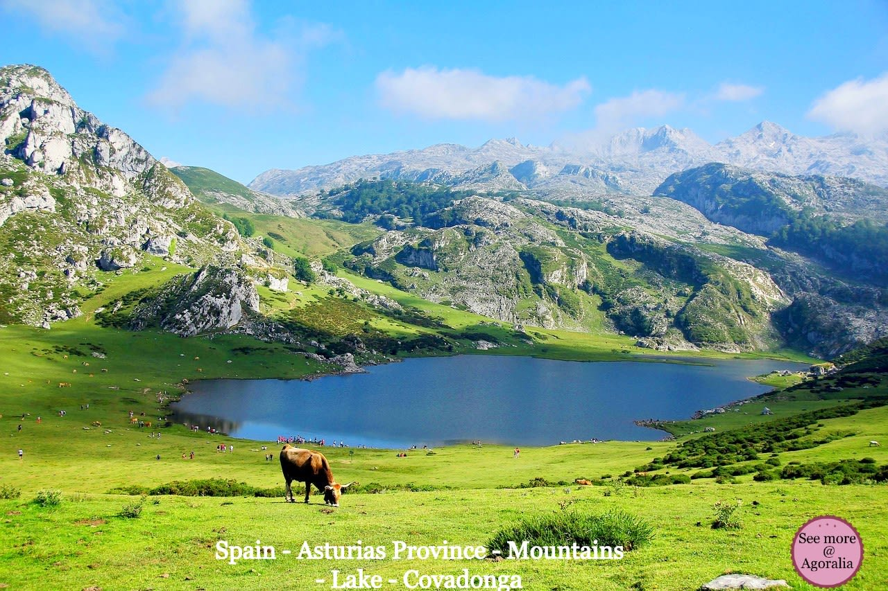 Spain-Asturias-Province-Mountains-Lake-Covadonga