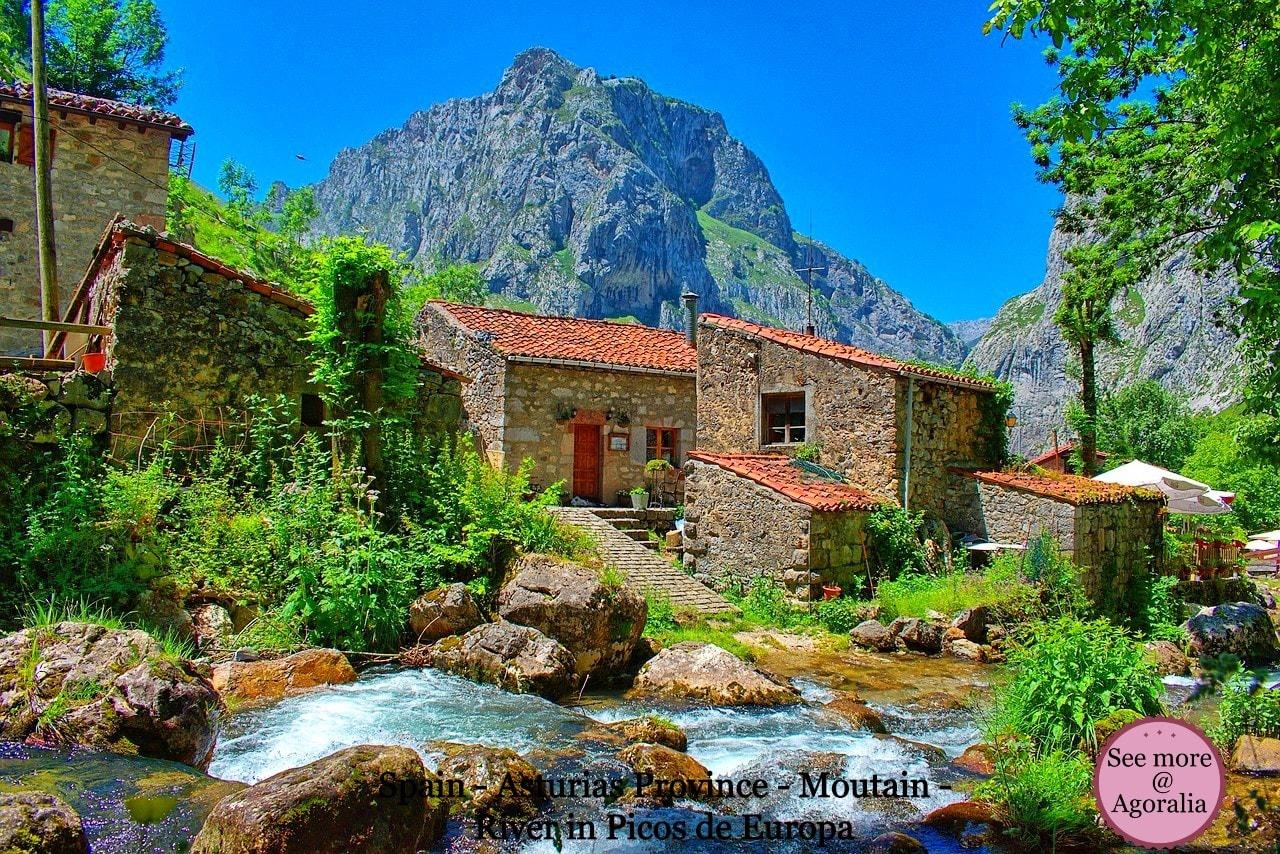 Spain - Asturias Province - Moutain - River - Picos de Europa