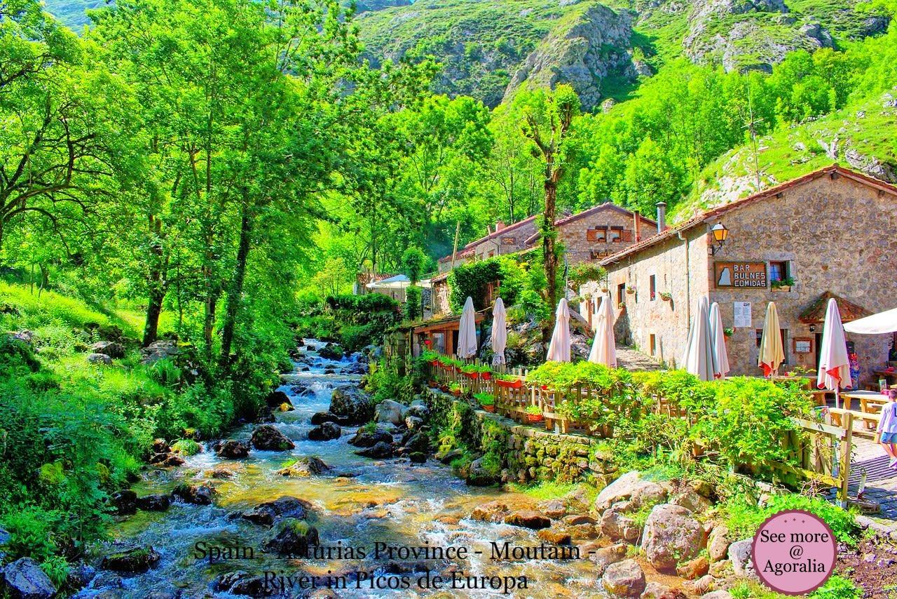 Spain-Asturias-Province-Moutain-River-Picos-de-Europa
