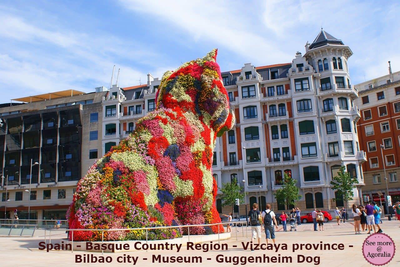 Spain - Basque Country Region - Vizcaya province - Bilbao city - Museum - Guggenheim Dog