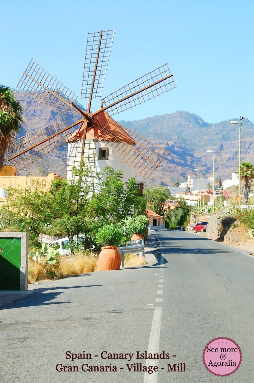 Spain - Canary Islands - Gran Canaria - Village - Mill