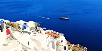 Greece Cyclades Santorini Oia Sea