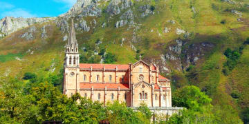 Spain-Asturias-Province-Church-Covadonga
