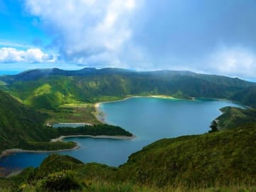 Portugal Azores Islands Lake