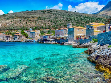 Greece Peloponnese Laconia Region Aeropoli Limeni Port