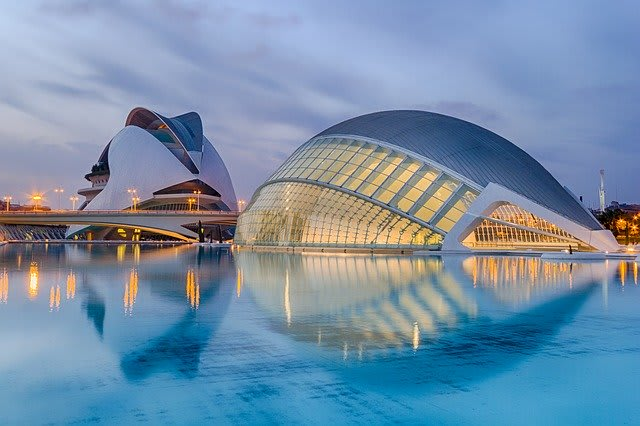 Spain Valencia Region Valencia city City of sciences Kalatrava