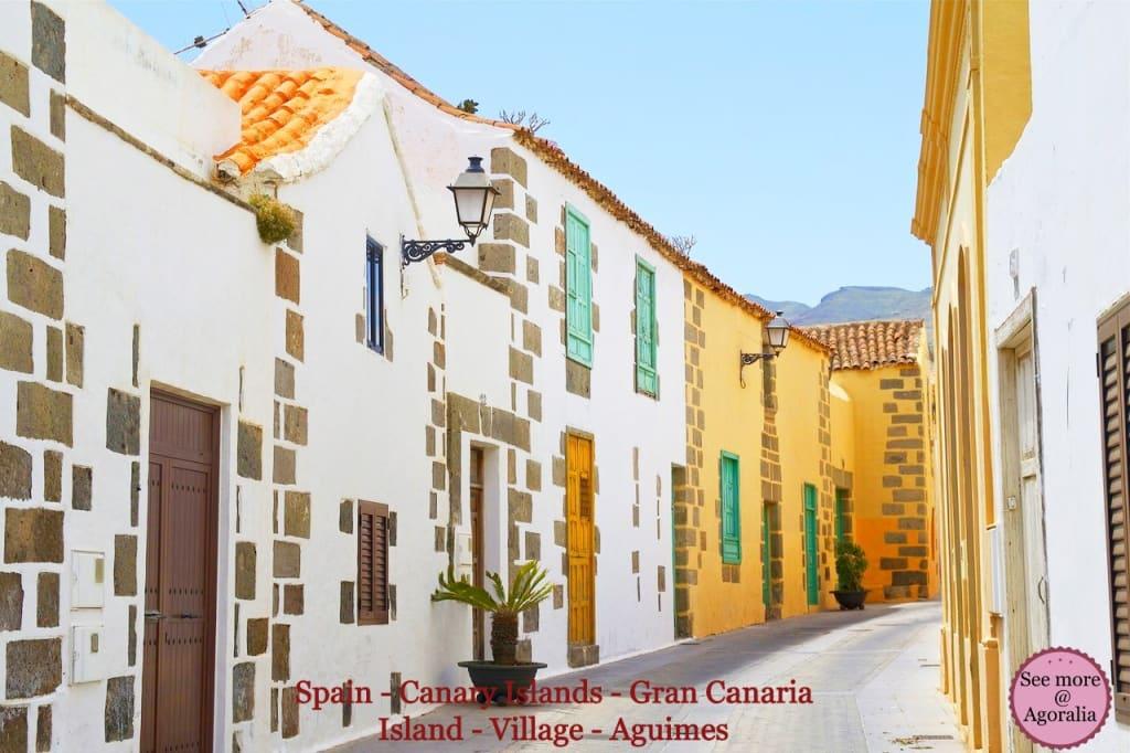 Spain-Canary-Islands-Gran-Canaria-Island-Village-Aguimes