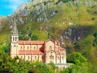 Spain-Asturias-Province-Church-Covadonga