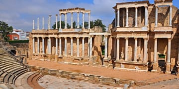 Extremadura Region Merida Ancient Theater.