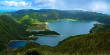 Portugal Azores Islands Lake