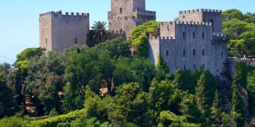 Italy Sicily Erice village Castle