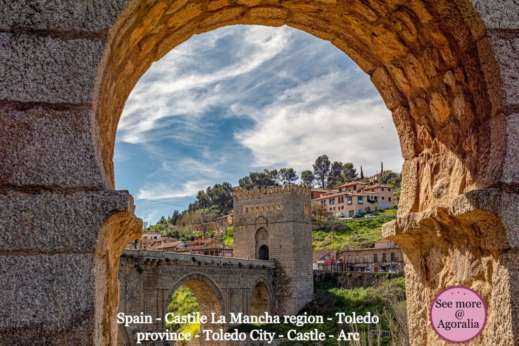 Spain - Castile La Mancha region - Toledo province - Toledo City - Castle - Arc