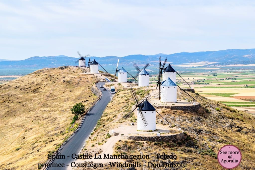 Spain - Castile La Mancha region - Toledo province - Consuegra - Windmills - Don Quixote