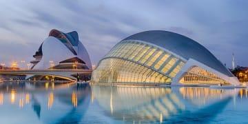Spain Valencia Region Valencia city City of sciences Kalatrava