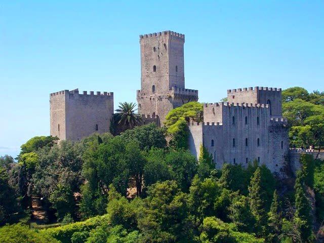 Italy Sicily Erice village Castle